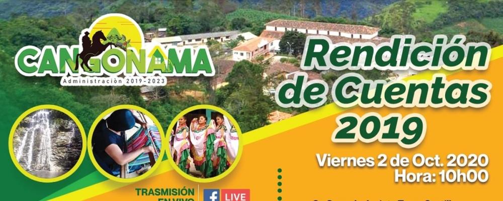 RENDICION DE CUENTAS 2019 GADP CANGONAMA
